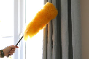 How do you wash curtains without taking them down